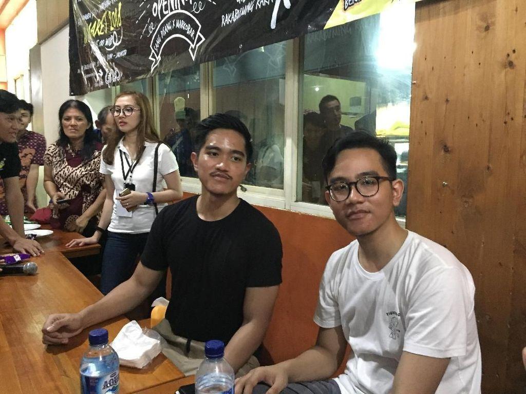 Reaksi Gibran dan Kaesang Respons Broadcast Jokowi Anak Oey Hong Liong