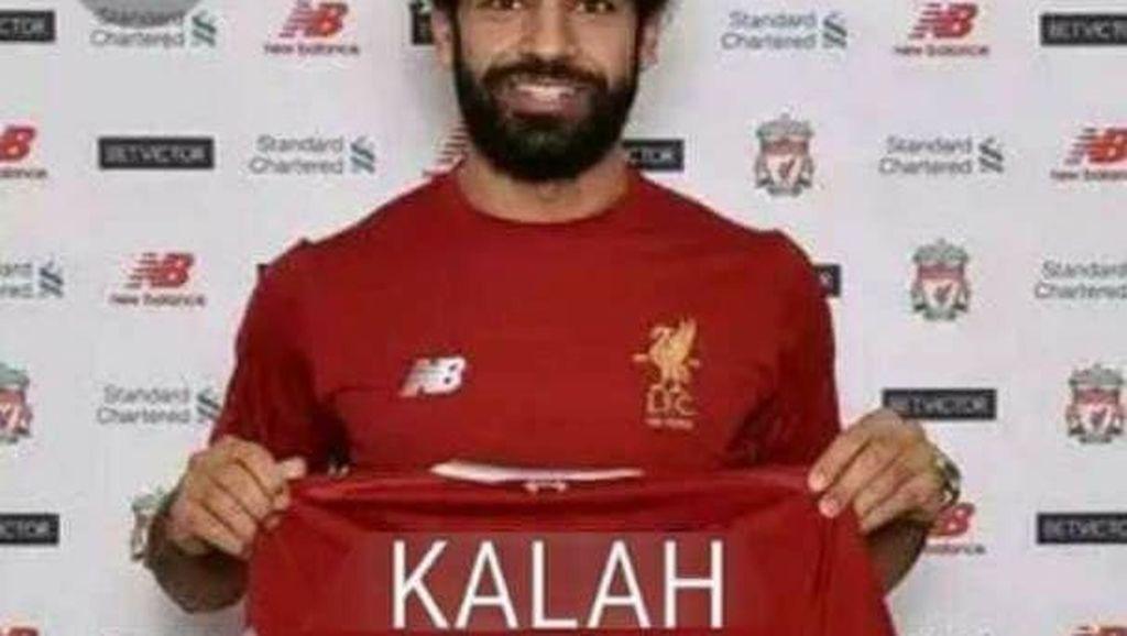 Meme: Liverpool Kalah, Salah Ikut Kena Getah