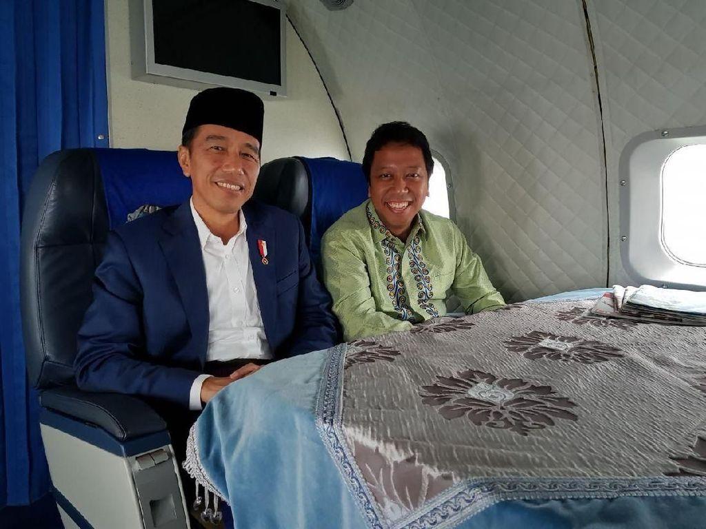 Satu Pesawat dengan Jokowi, Rommy: Kami Guyon-guyon Saja