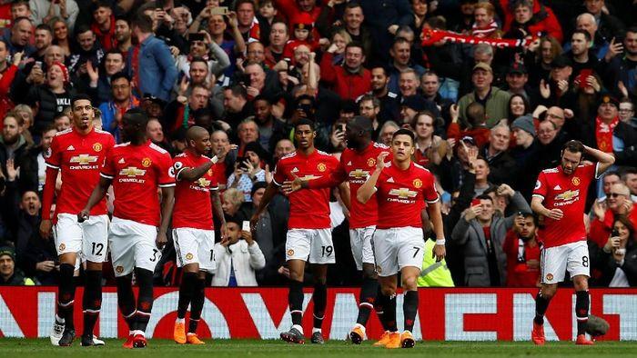 Para pemain Manchester United. (Foto: Jason Cairnduff/Action Images via Reuters)
