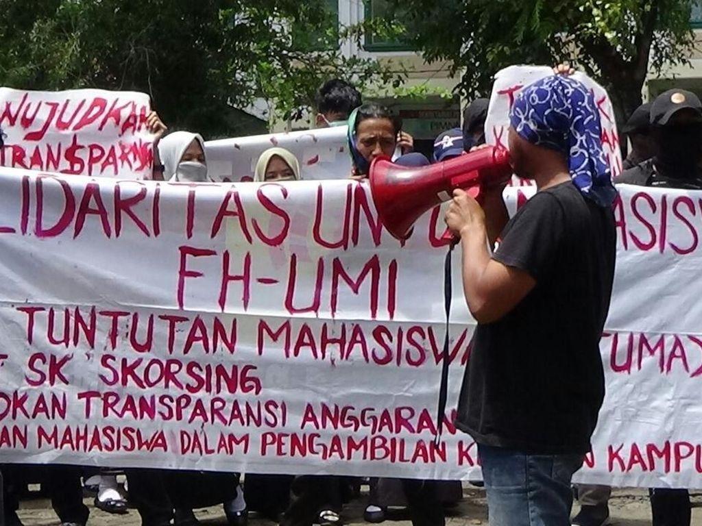 Demo Dana Kampus, 2 Mahasiswa UMI Diskors Setahun