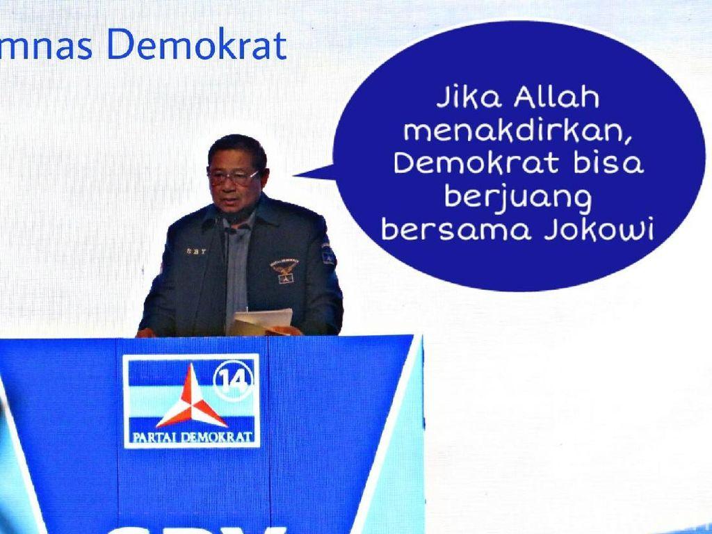 Meme Politik: Balas Pantun PD vs Gerindra PKS Gara-gara SBY-Jokowi