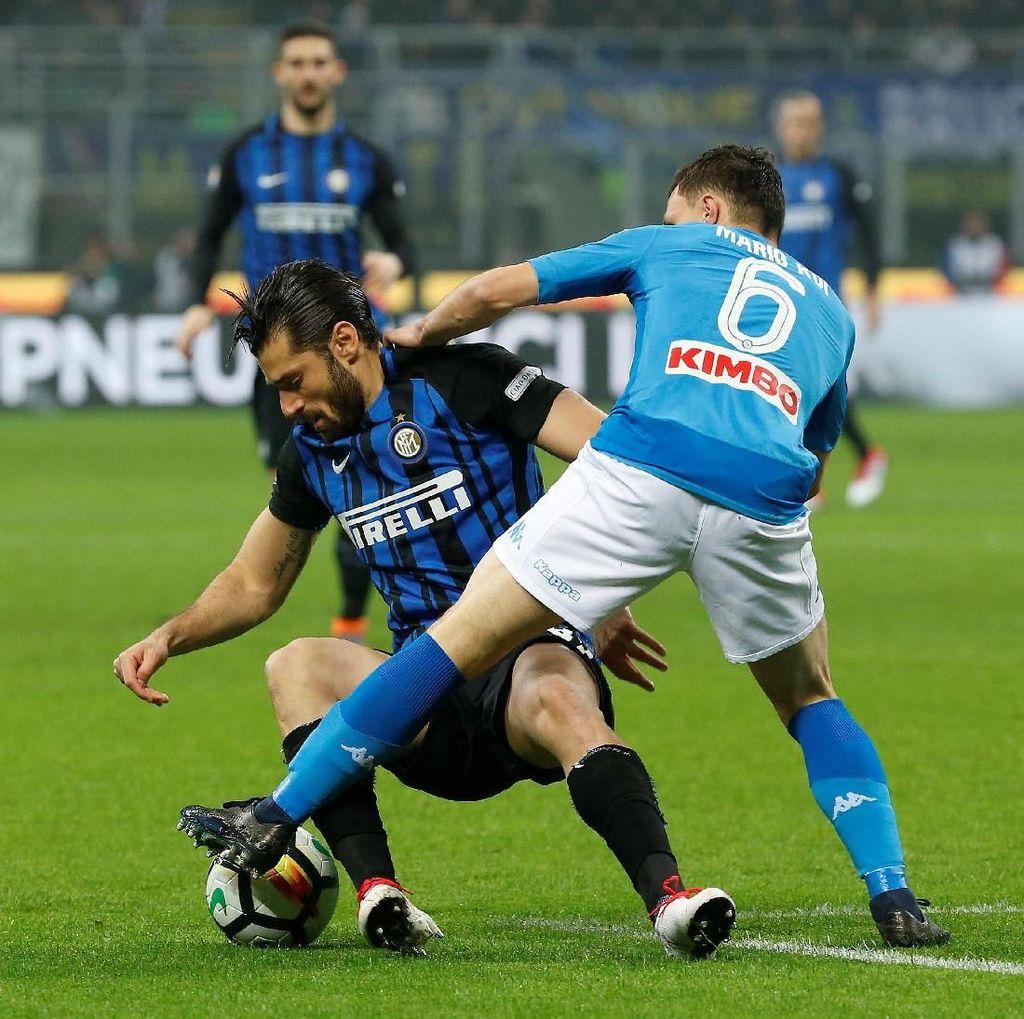 Inter vs Napoli Berakhir Imbang Tanpa Gol