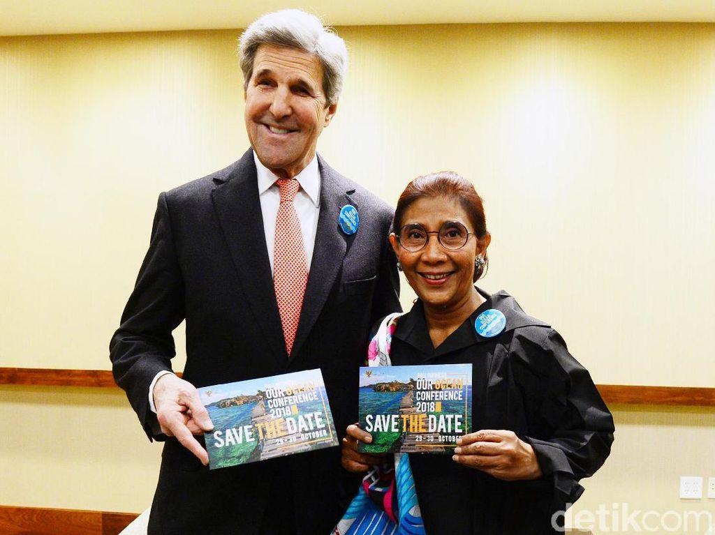 Susi Ajak John Kerry ke Bali Oktober Nanti