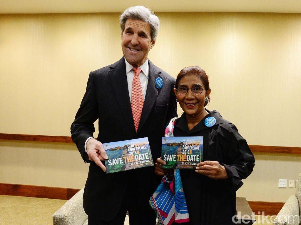 Di Konferensi Laut Dunia, Eks Menlu AS Singgung Illegal Fishing