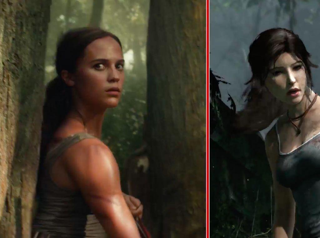 Perbandingan Adegan Tomb Raider di Film vs Video Game