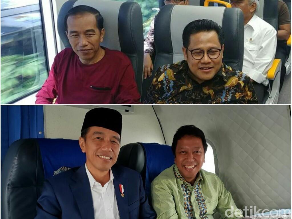 Jokowi Didampingi Cak Imin dan Gus Rommy, Lebih Cocok Mana?