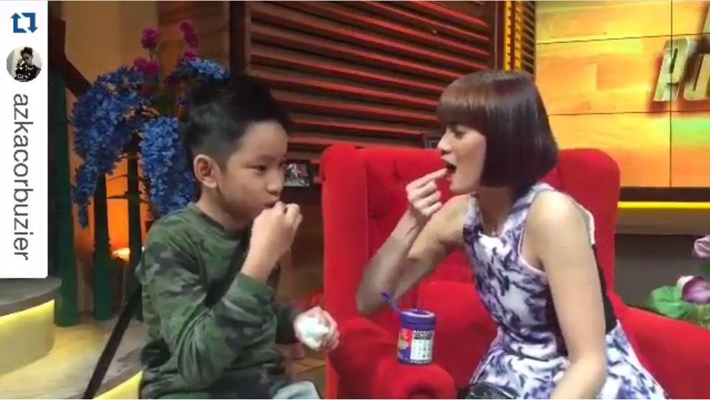 Serunya Gaya Chika Jessica dan Azka Corbuzier Saat Makan Bersama