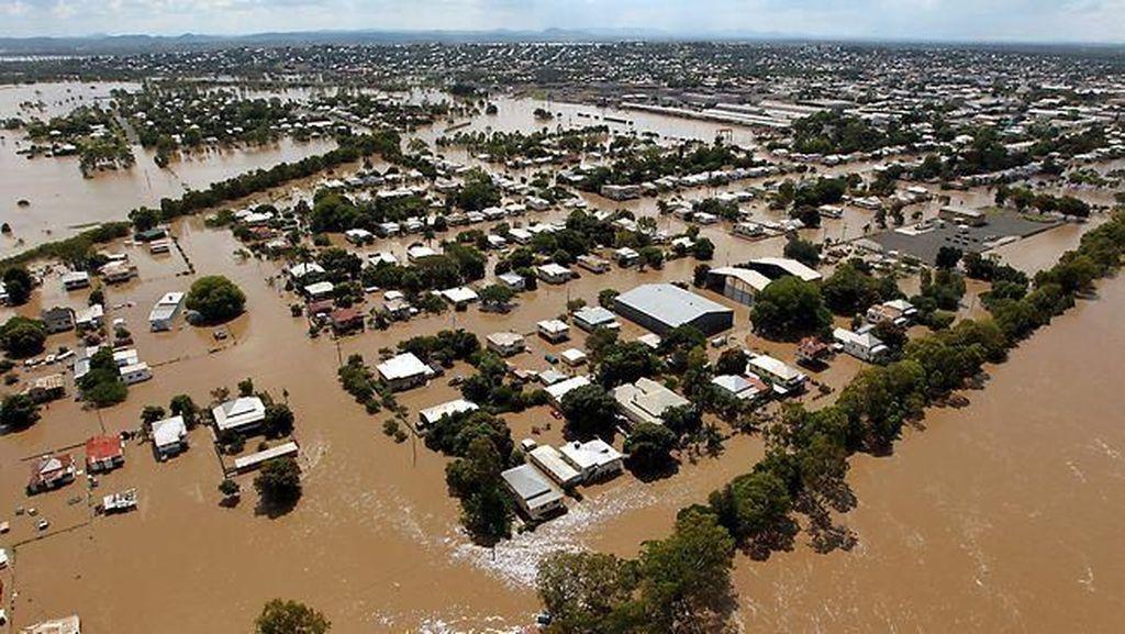 Foto: Banjir dan Keberadaan Buaya yang Ancam Warga Queensland