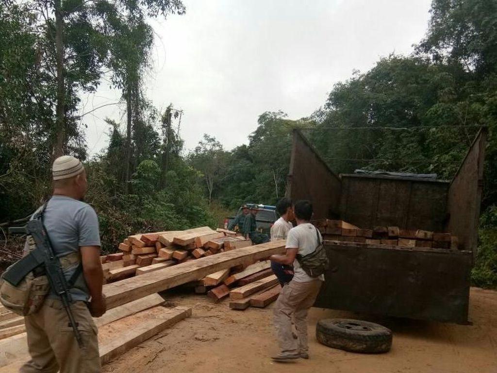 Sempat Kejar-Kejaran, Bos Kayu Illegal Logging di Sumsel Ditangkap
