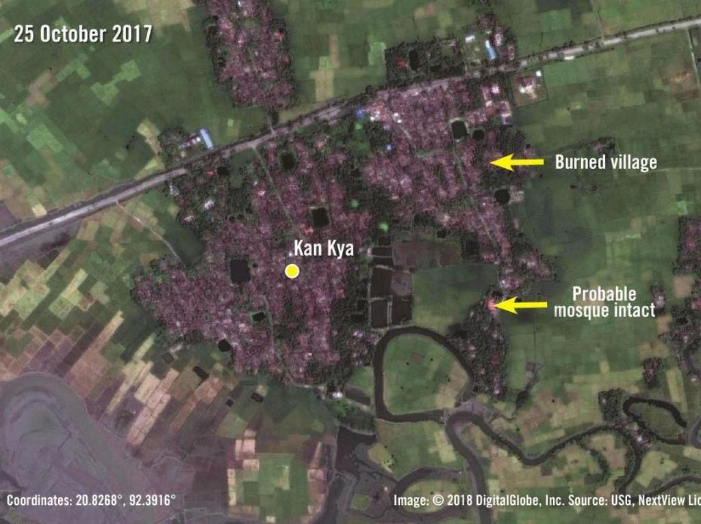 Foto: Penampakan Pangkalan Militer Myanmar di Desa Rohingya