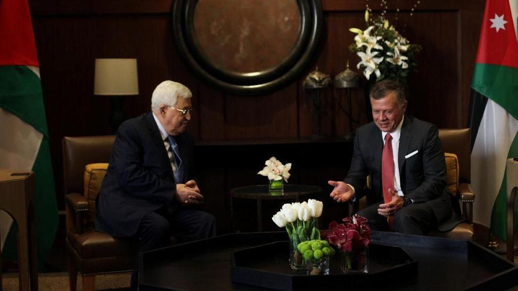 Potret Pertemuan Presiden Palestina-Raja Yordania Bahas Yerusalem