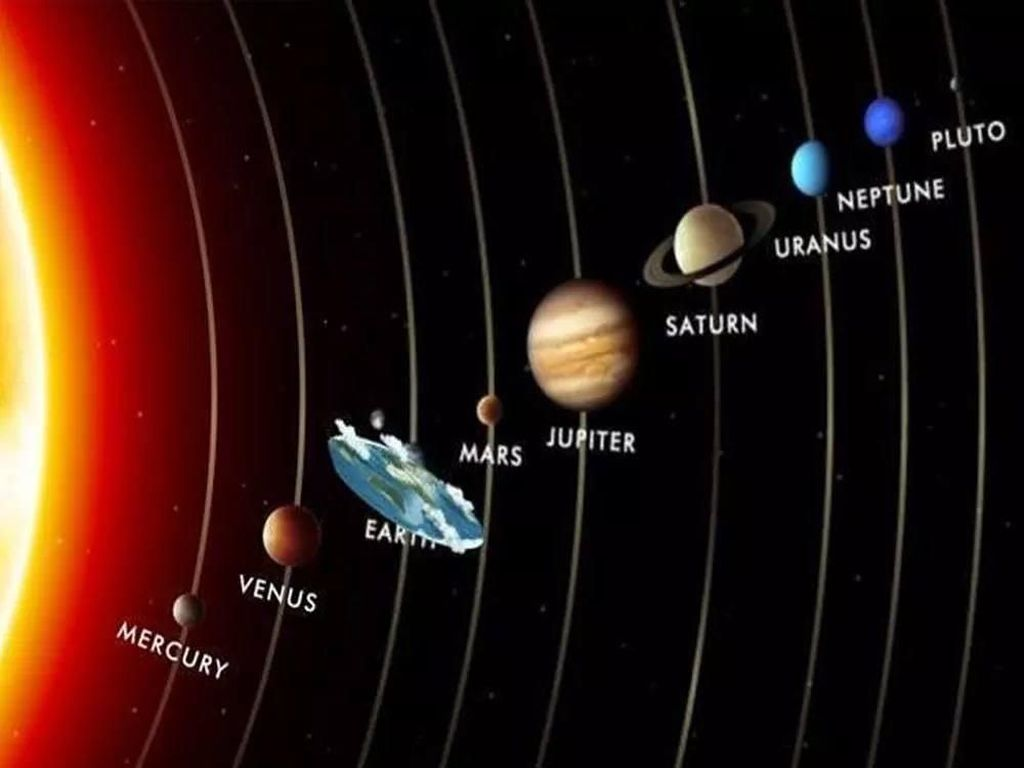 Meme Nyeleneh Konspirasi Bumi Datar