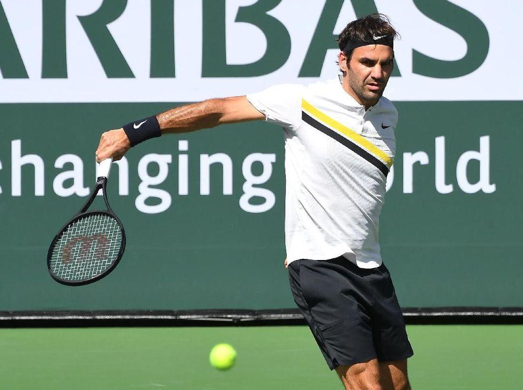 Federer Melangkah Mulus ke Babak 16 Besar