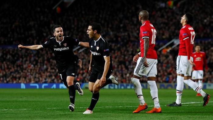 Manchester United saat takluk dari Sevilla di Liga Champion. (Foto: Jason Cairnduff/Action Images via Reuters)