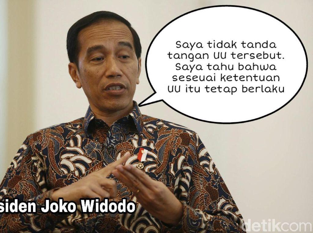 Meme Politik: Dilema Jokowi Terbelit UU MD3