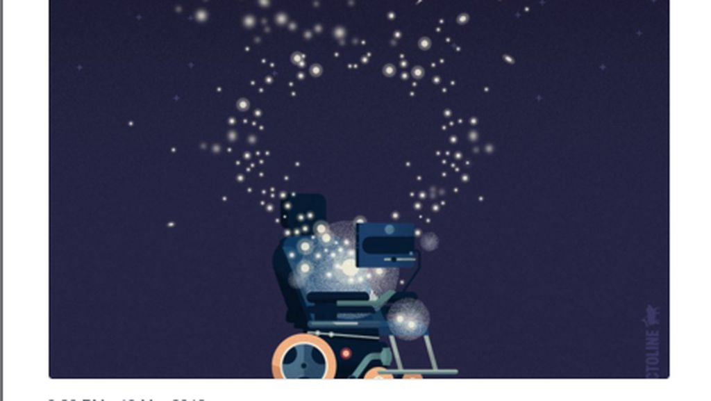 Tribut Menyentuh Netizen Buat Stephen Hawking