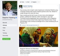 Facebook Stephen Hawking.