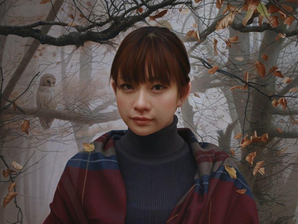 Keren! Lukisan Nyata Gadis Cantik Mirip Jepretan Kamera
