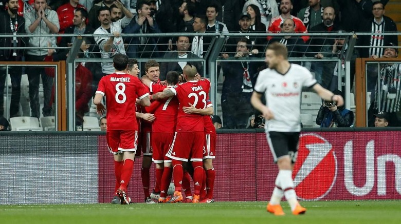Turun Minum, Bayern Ungguli Besiktas 1-0
