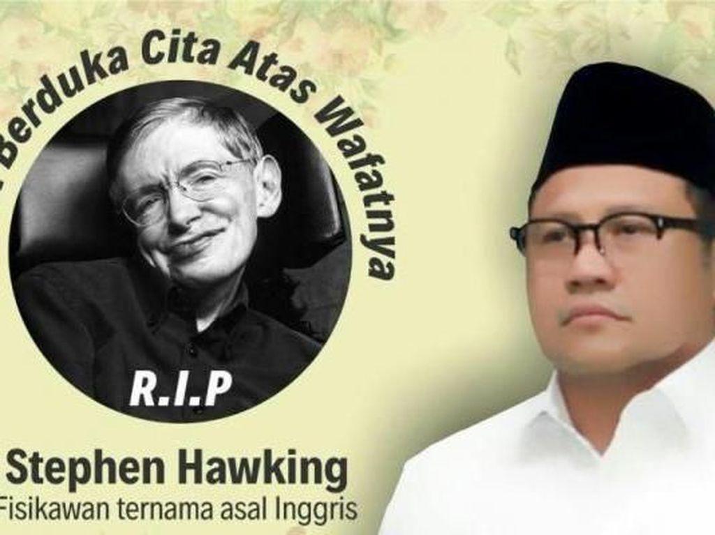 Cak Imin Berduka Atas Meninggalnya Stephen Hawking