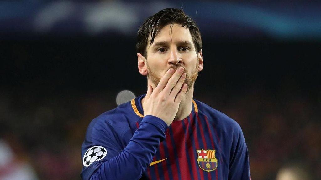 Foto: Messi Menangkan Barcelona, Pulangkan Chelsea