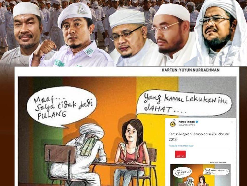 FPI Demo Tempo karena Kartun Pria Bersorban Tak Jadi Pulang