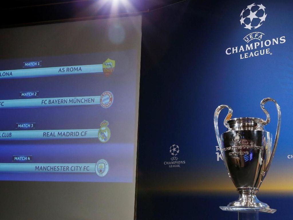 Statistik Delapan Tim di Perempatfinal Liga Champions