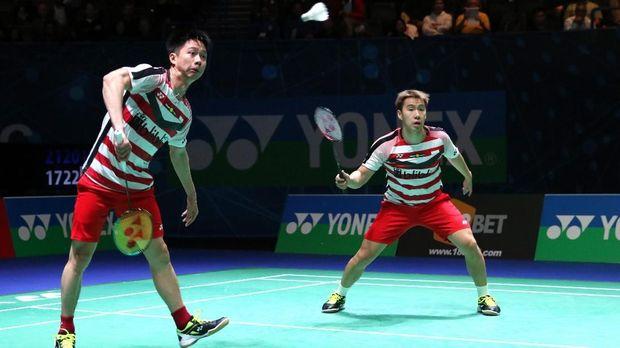 Kevin Sanjaya/Marcus Fernaldi Gideon jadi satu-satunya wakil Indonesia di babak semifinal All England
