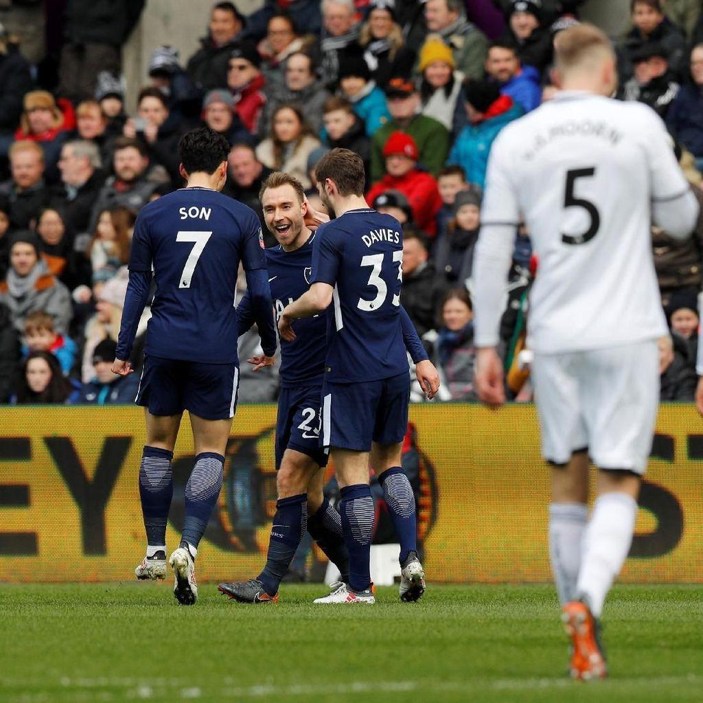 Hajar Swansea City, Spurs ke Semifinal Piala FA