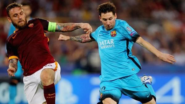Roma Nikmati Saja Laga Lawan Barcelona