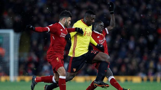 Liverpool tampil mendominasi permainan saat menghadapi Watford.