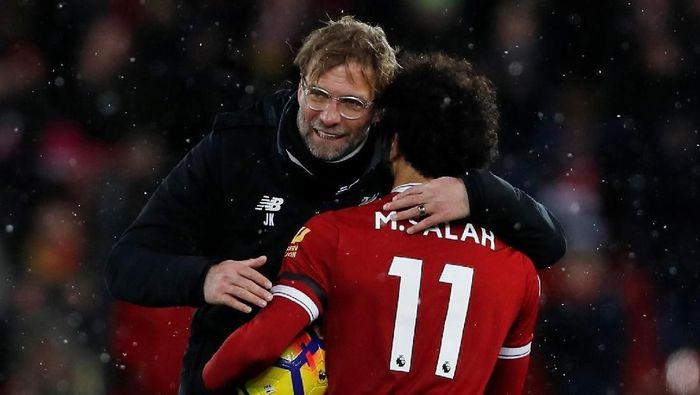 Juergen Klopp sama sekali tak pernah meragukan Mohamed Salah (Lee Smith/Action Images via Reuters)