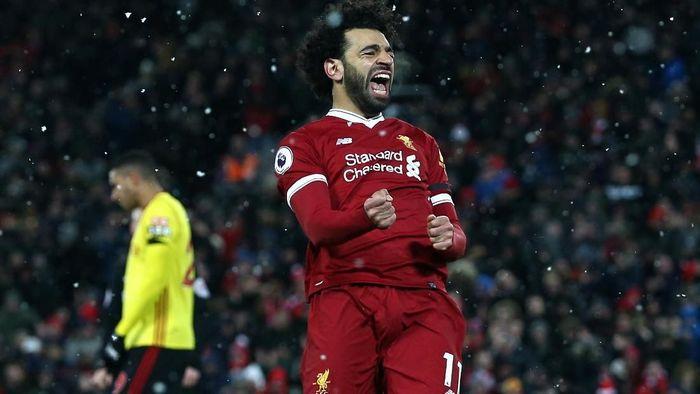 Mohamed Salah mencetak empat gol dan satu assist saat Liverpool mencukur Watford 5-0 (Foto: Jan Kruger/Getty Images)