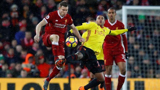 James Milner menjadi kreator serangan untuk gol terakhir Liverpool yang dicetak Salah.