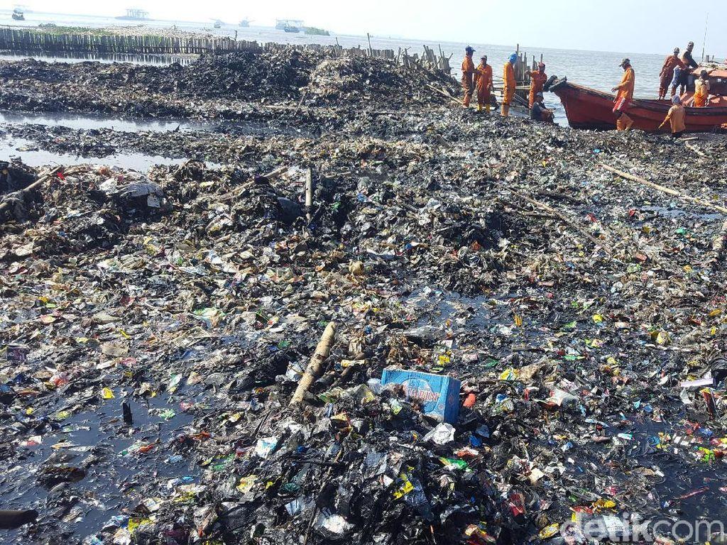 Petugas Angkut 85 Ton Sampah dari Teluk Jakarta Selama 4 Hari