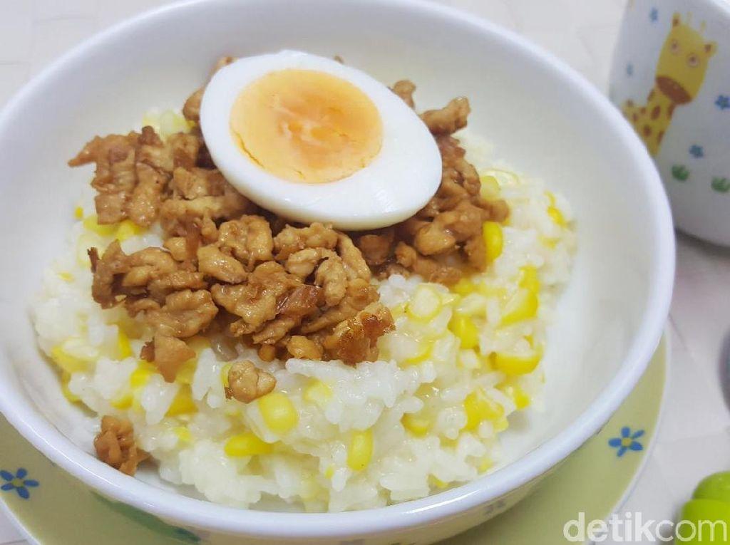 Resep Anak : Bubur Jagung Ayam Cincang