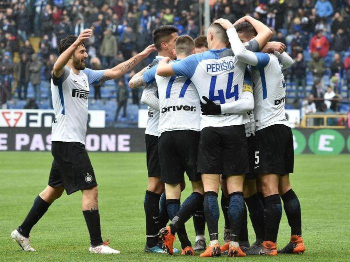 Inter Milan menag telak di kandang Sampdoria (Paolo Rattini/Getty Images)
