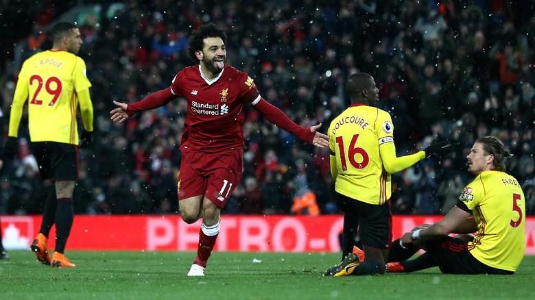 Salah Empat Gol, Liverpool Cukur Watford 5-0