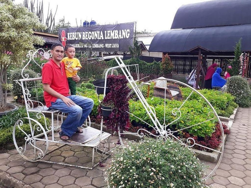 Akhir Pekan, Foto-foto Seru di Kebun Begonia Lembang
