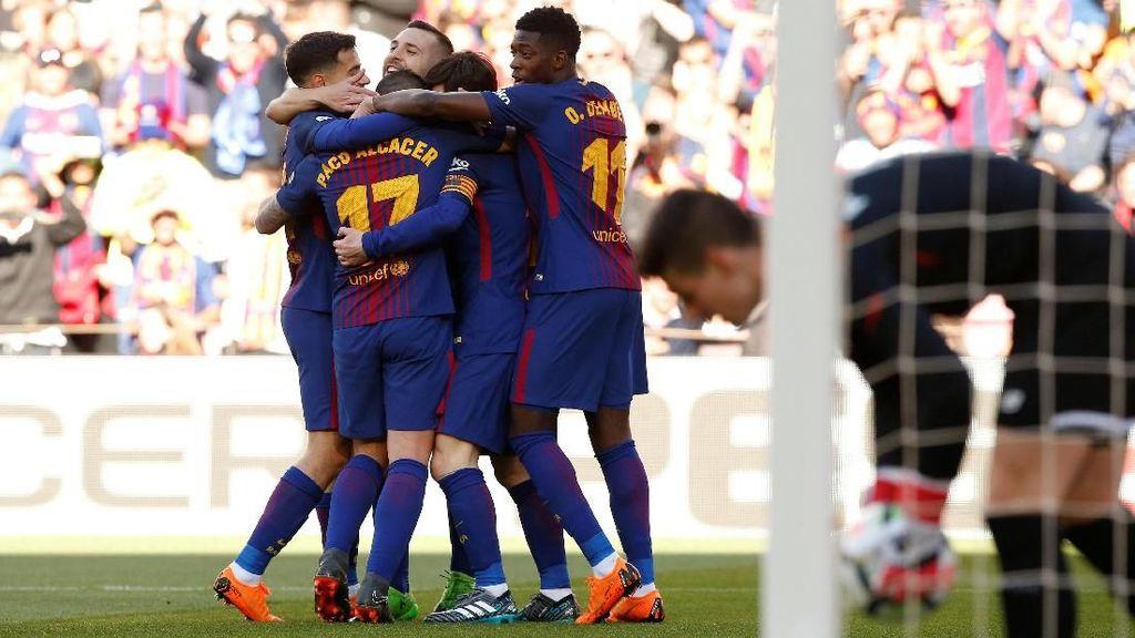 Barca Tumbangkan Bilbao 2-0 di Camp Nou