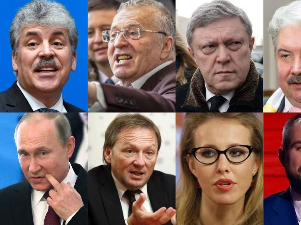 Foto: Ini 7 Penantang yang Dikalahkan Putin di Pilpres Rusia