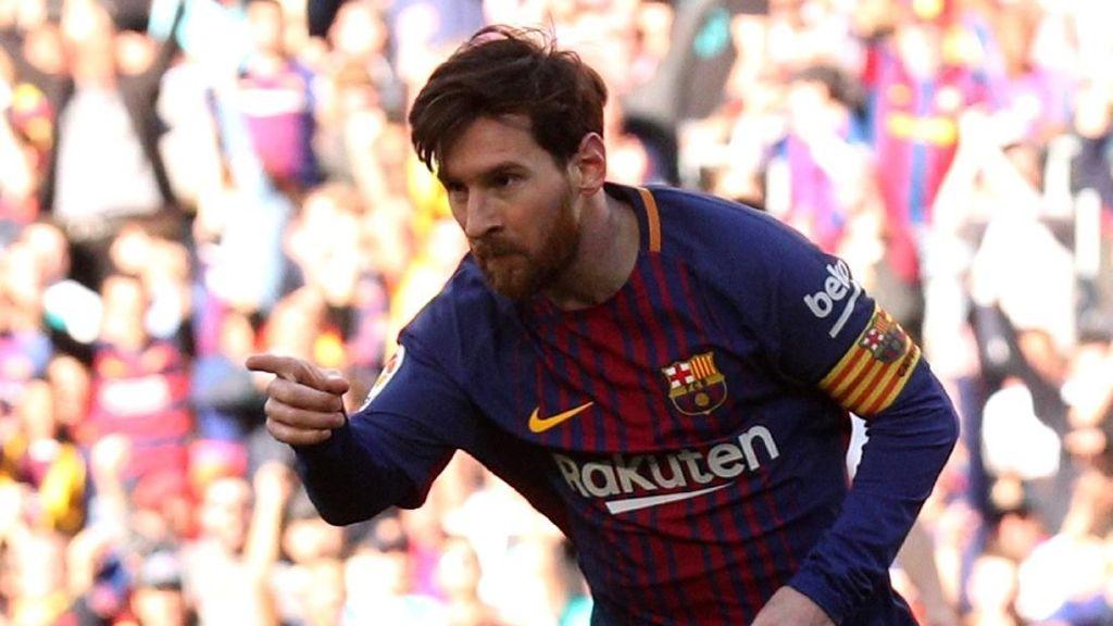 Tarian Messi di Camp Nou