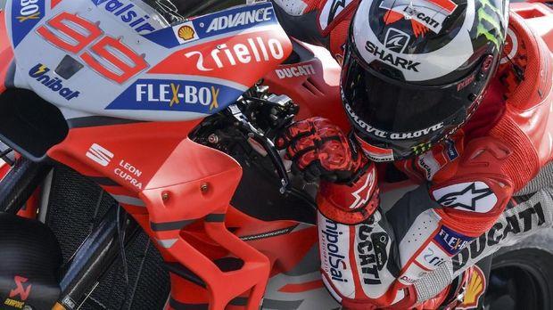 Jorge Lorenzo masih kesulitan menarik keluar seluruh potensi motor Ducati.