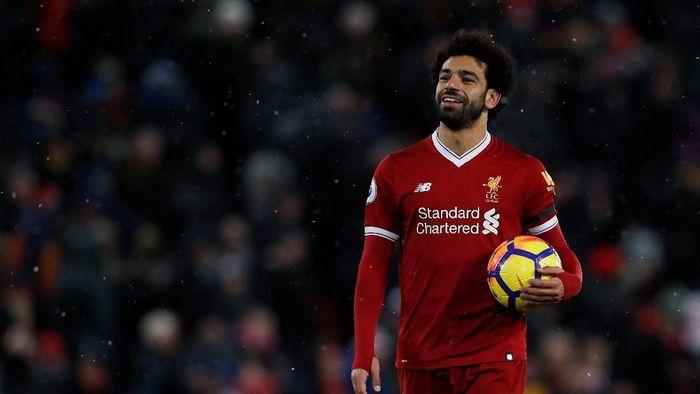 Pemain Liverpool Mohamed Salah. (Foto: Lee Smith/Reuters)