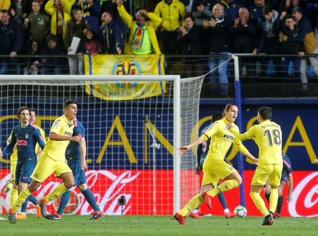 Dua Gol Pemain Pengganti Villarreal Bikin Atletico Takluk