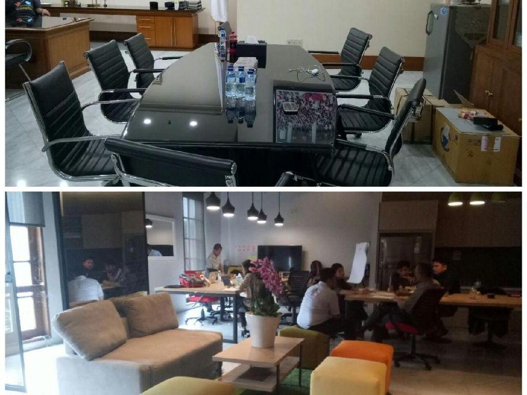 Before-After Ruang Wagub DKI yang Disulap Sandi Jadi Coworking Space