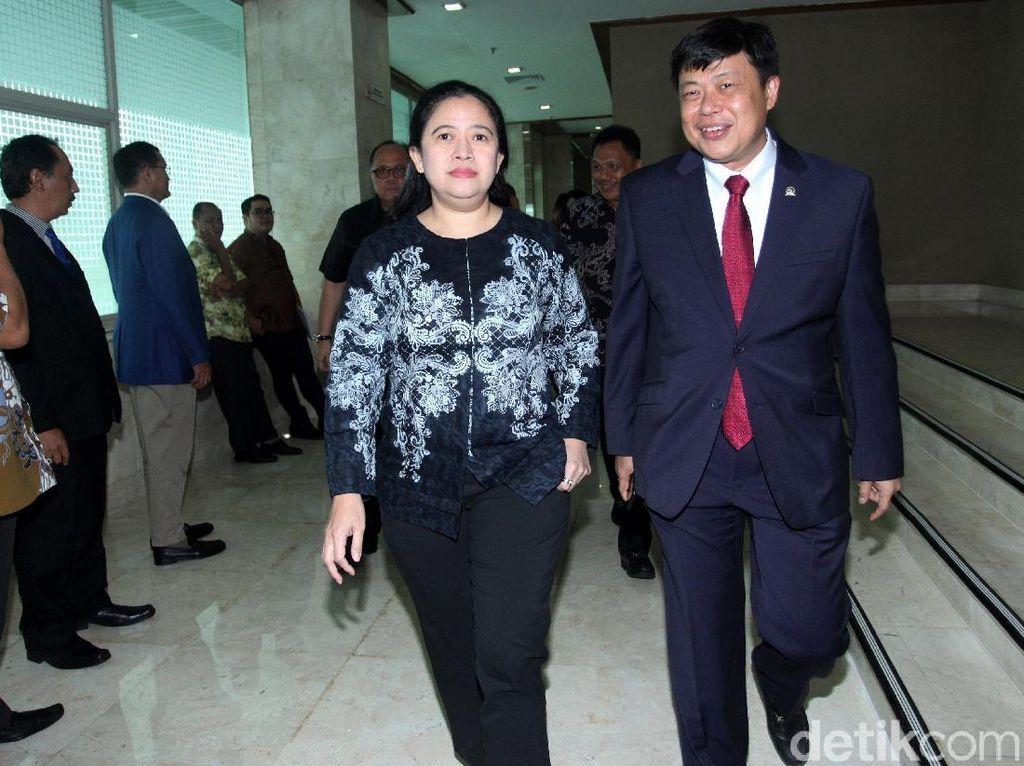 Puan Datang Khusus Hadiri Pelantikan Utut sebagai Pimpinan DPR