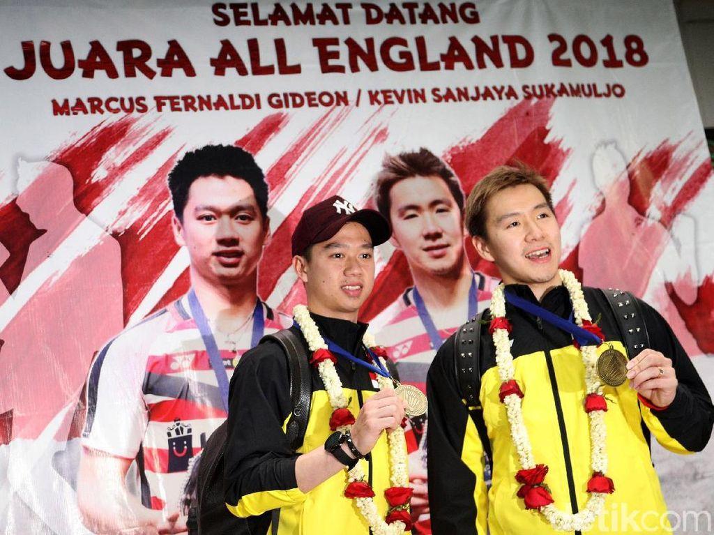 Juara All England Kevin/Marcus Disambut Meriah
