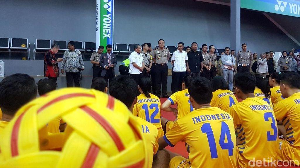 Begini Aksi CdM Asian Games Jadi Tekong di Pelatnas Sepak Takraw